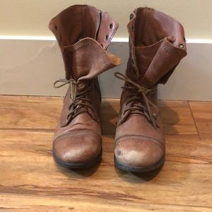 Gently used Steve Madden combat boots